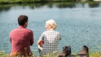 Schöne Bergseen und klares Wasser in der Olympiaregion Seefeld